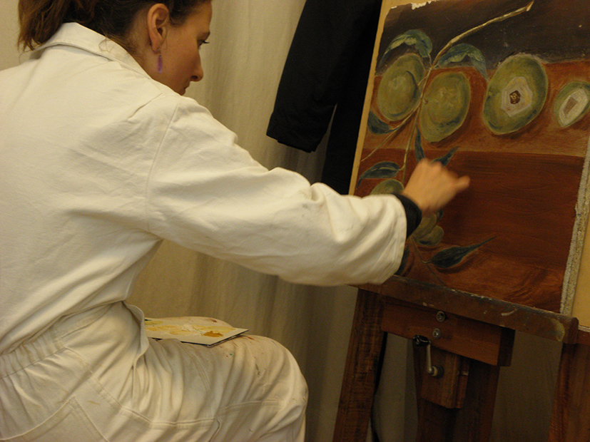 Formation a la fresque, fresco sous forme de stages