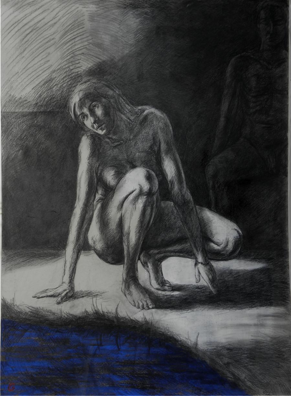 peinture femme dénudé